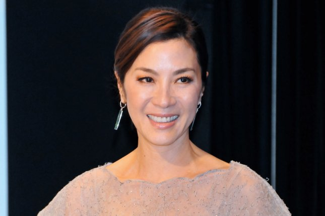 Marco Polo actress Michelle Yeoh attends a stage greeting during the premiere for the film The Lady in Tokyo on June 26, 2012. File Photo by Keizo Mori/UPI