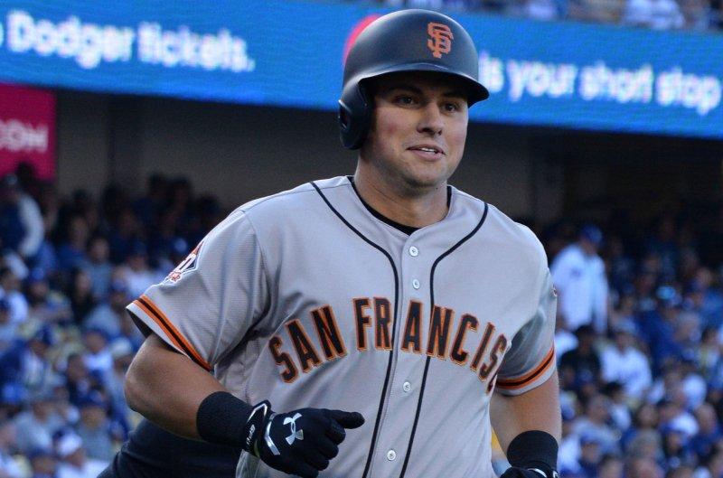 San Francisco Giants' 2nd baseman Joe Panik. File photo by Jim Ruymen/UPI