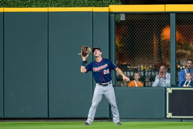 Max Kepler hit a career-high 20 home runs last season, but already is up to 15 in 54 games this season for the Minnesota Twins. File Photo by Trask Smith/UPI