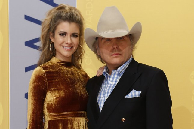 Dwight Yoakam (R) and Emily Joyce married at an intimate wedding in March prior to stay at home orders due to the coronavirus pandemic. File Photo by John Sommers II/UPI