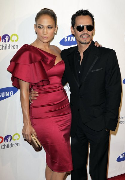 Jennifer Lopez and Marc Anthony arrive at the Samsung Hope for Children Gala at Cipriani on Wall Street in New York City on June 7, 2011. UPI/John Angelillo