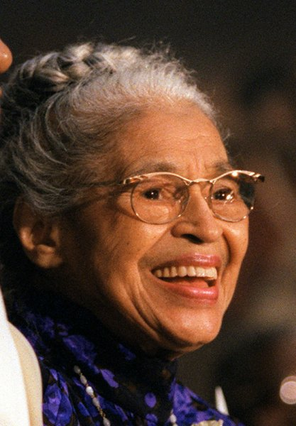 Parks is shown in a June 15, 1999 file photo after being presented with the Congressional Gold Medal at a ceremony at the Capitol in Washington. The civil rights pioneer refused to move from her bus seat when asked by a white person, sparking a 381-day bus boycott in Montgomery, Ala., led by Martin Luther King, Jr. The Library of Congress will open its Rosa Parks Collection on Wednesday. File Photo by Ricardo Watson/UPI