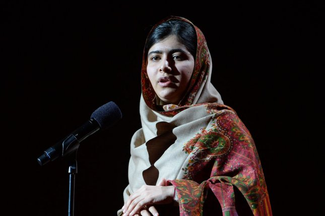 Pakistani activist for female education Malala Yousafzai attends at the Nobel Peace Prize Concert in The Spektrum in Oslo on December 11, 2014. UPI/ Rune Hellestad