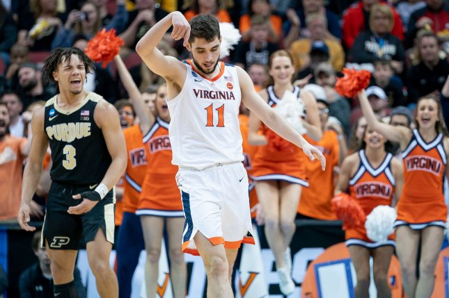 Virginia Cavaliers guard Ty Jerome (11) had 21 points against the Auburn Tigers in the team's Final Four victory Saturday. File Photo by Bryan Woolston/UPI