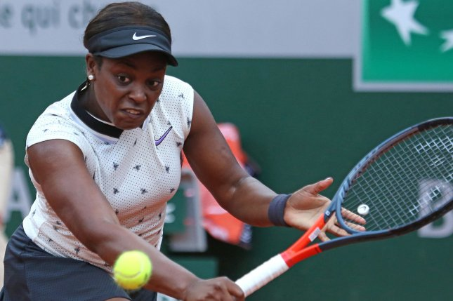 American Sloane Stephens is looking to return to the French Open final after falling to Simona Halep in the 2018 French Open finale. Photo by David Silpa/UPI