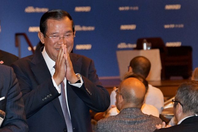 Prime Minister of Cambodia Hun Sen is cutting the number of public holidays. File Photo by Keizo Mori/UPI