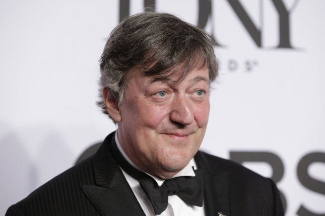 British actor, comedian and writer Stephen Fry went public with his prostate cancer diagnosis in 2018. File Photo by John Angelillo/UPI.
