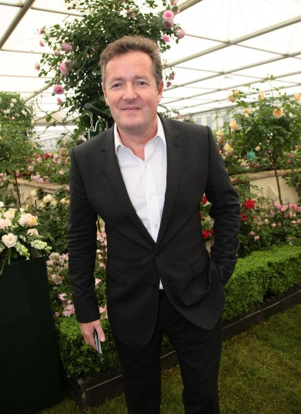 British Television personality Piers Morgan poses in a garden at the 2012 Chelsea Flower Show in London, May 21, 2012. UPI/Hugo Philpott
