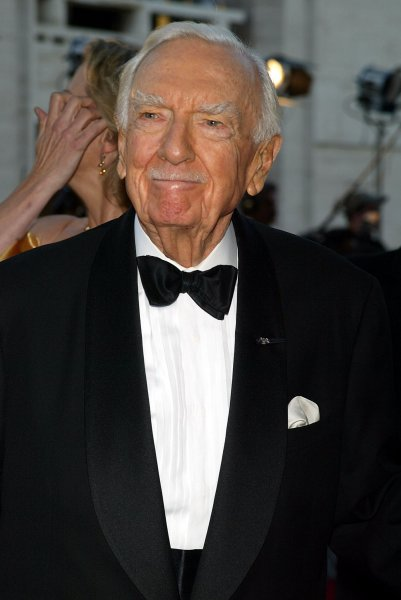 Walter Cronkite arrives for the opening of the Metropolitan Opera's 2007-2008 season with the production of Donizetti's Lucia de Lammermoor at Lincoln Center in New York on September 24, 2007. (UPI Photo/Laura Cavanaugh)