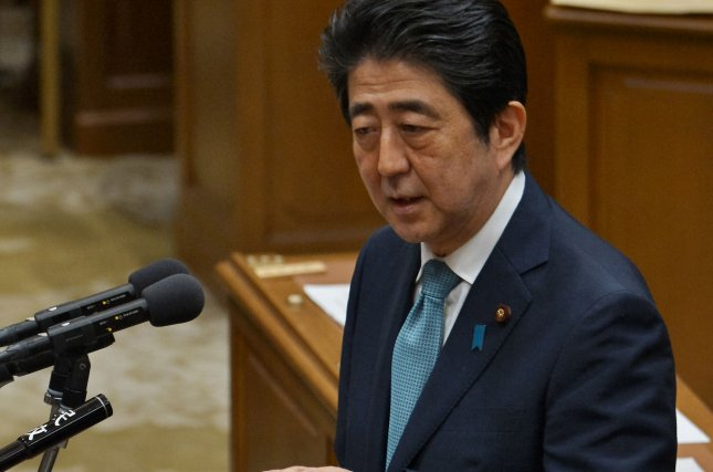 Japanese Prime Minister Shinzo Abe, seen here on May 18, said he has no plans to visit Pearl Harbor in response to President Barack Obama's visit to Hiroshima. Photo by Keizo Mori/UPI