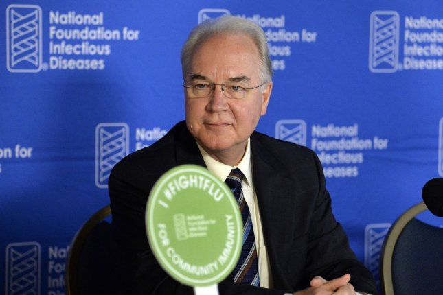 Health and Human Services Secretary Tom Price resigned Friday amid scrutiny of his use of taxpayer funds to pay for private charter flights for government work. Photo by Mike Theiler/UPI