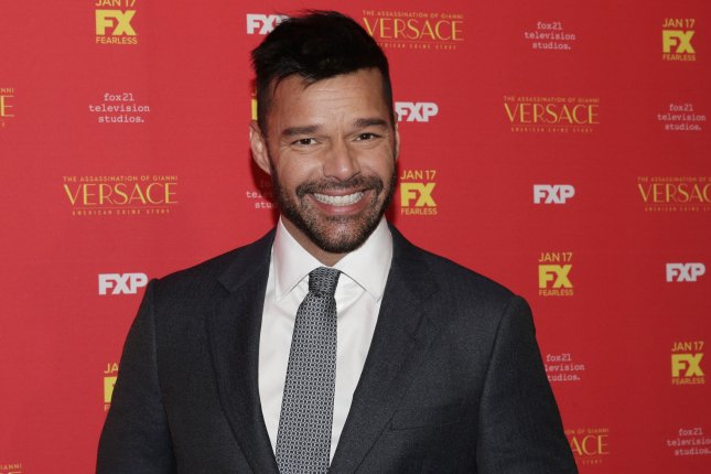 Ricky Martin will bare his behind for the first time on TV on American Crime Story: The Assassination of Gianni Versace. File Photo by John Angelillo/UPI