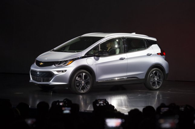 The automaker is asking Bolt owners to park the vehicles outside until they're fixed and that they charge them fully each night.File Photo by Molly Riley/UPI