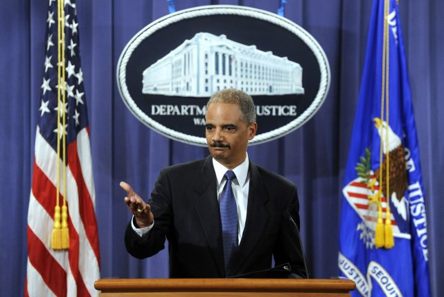 Attorney General Eric Holder announces Khalid Sheik Mohammed and other alleged 9/11 terrorists will be tried before military tribunals at the Guantanamo Bay detention facility in Cuba during a news conference at the Justice Department in Washington on April 4, 2011. UPI/Roger L. Wollenberg
