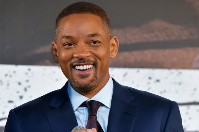 Will Smith was seen bungee jumping out of a helicopter for his 50th birthday. File Photo by Keizo Mori/UPI