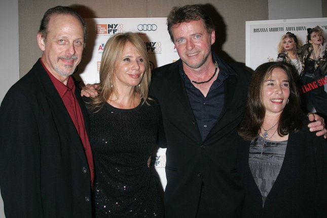 Left to right, Mark Blum, Rosanna Arquette, Aidan Quinn and Susan Seidelman arrive for the 25th Anniversary Screening of Desperately Seeking Susan in New York on September 23, 2010. File Photo by Laura Cavanaugh/UPI
