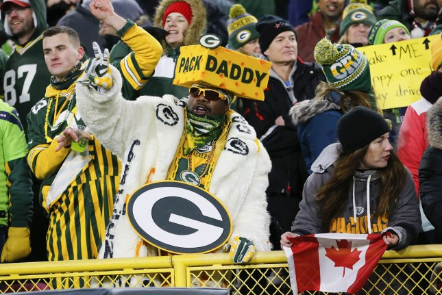 The Green Bay Packers didn't allow fans at Lambeau Field during the regular season because of the ongoing COVID-19 pandemic. File Photo by Nuccio DiNuzzo/UPI