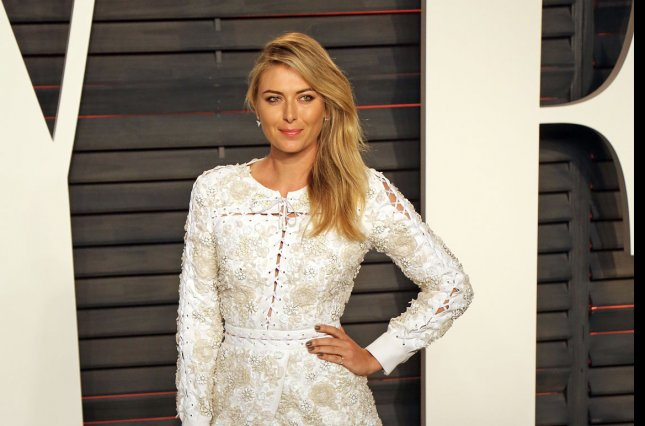 Maria Sharapova attends the 2016 Vanity Fair Oscar Party at the Wallis Annenberg Center for the Performing Arts in Beverly Hills on February 28, 2016. Photo by David Silpa/UPI
