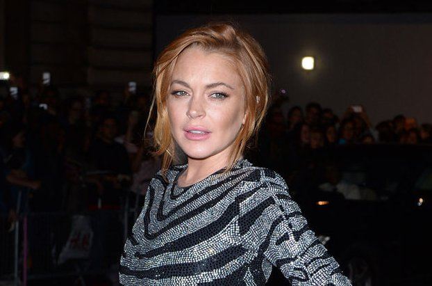 Lindsay Lohan at the GQ Men of the Year Awards on September 3, 2014. The actress wore her engagement ring in a new photo Sunday. File Photo by Rune Hellestad/UPI