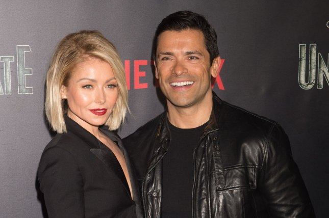 Kelly Ripa (L) and Mark Consuelos shared throwback photos on their 22nd wedding anniversary. File Photo by Bryan R. Smith/UPI