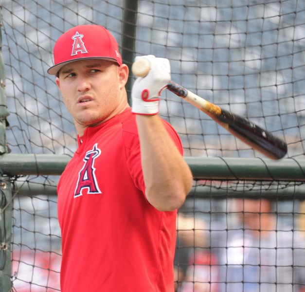 Mike Trout and the hard-hitting Los Angeles Angels face the Kansas City Royals on Friday. Photo by Lori Shepler/UPI