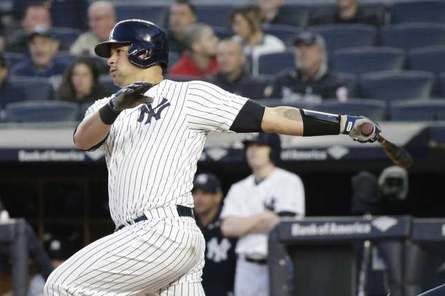 New York Yankees catcher Gary Sanchez. File photo by John Angelillo/UPI