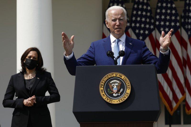 President Joe Biden delivers remarks on gun violence prevention during an event in the Rose Garden of the White House on Thursday. Photo by Yuri Gripas/UPI