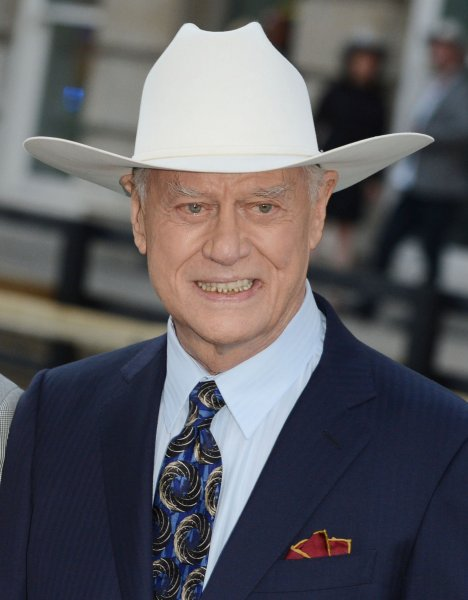 The late actor Larry Hagman, who starred as J.R. Ewing on Dallas, pictured in London, Aug. 21, 2012. UPI/Rune Hellestad/Files