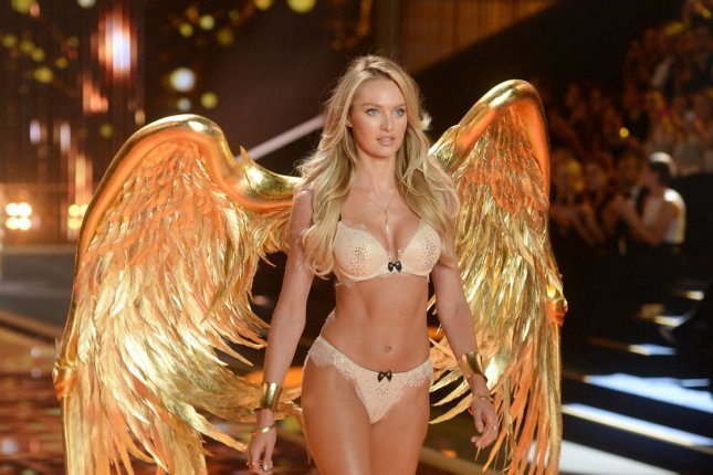 South African model Candice Swanepoel on the runway during the 2014 Victoria's Secret Fashion Show at Earl's Court Exhibition Centre in London on Dec. 2, 2014. File photo by Paul Treadway/UPI