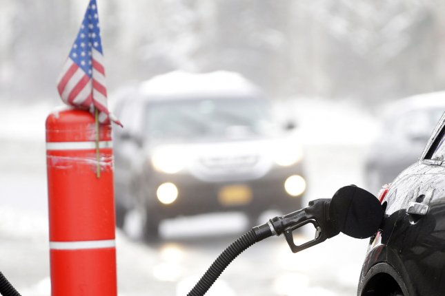 The retail price for a gallon of gasoline in the United States is the highest it's been in years, AAA reports. File photo by John Angelillo/UPI