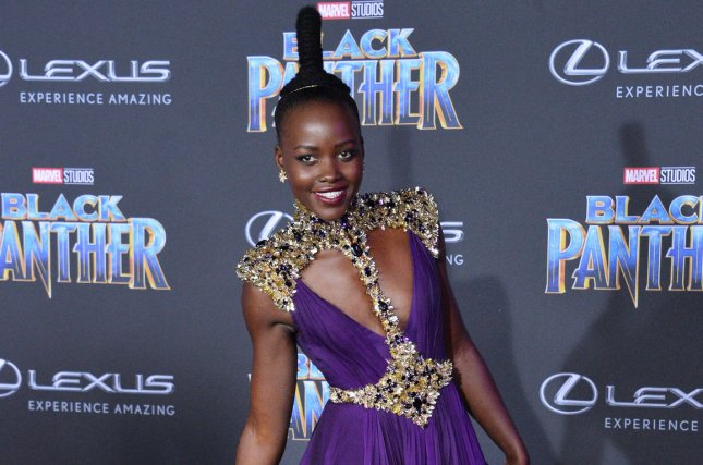 Lupita Nyong'o attends the Los Angeles premiere of Black Panther on Monday. Photo by Jim Ruymen/UPI