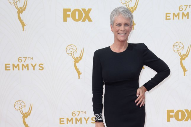Actress Jamie Lee Curtis appeared in the first trailer for the latest Halloween movie on Friday. File Photo by Jim Ruymen/UPI.