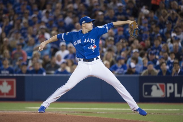 Toronto Blue Jays pitcher Aaron Sanchez. File photo by Darren Calabrese/UPI