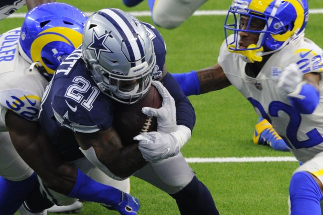 Dallas Cowboys running back Ezekiel Elliott (21) is my No. 1 option for Week 6 and should see more carries after the season-ending injury to quarterback Dak Prescott. File Photo by Lori Shepler/UPI
