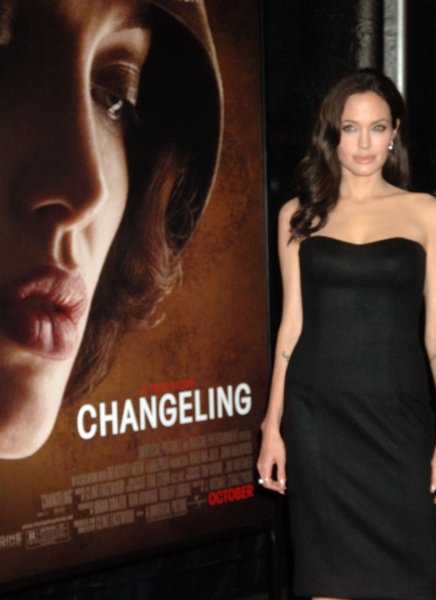 Actress Angelina Jolie arrives for the New York Film Festival premiere of her new film Changeling on October 4, 2008. (UPI Photo/Ezio Petersen)