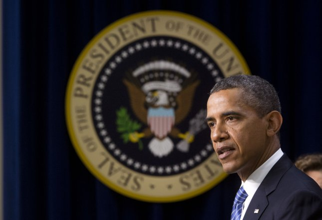 President Barack Obama delivers remarks on the need for Congress to act to continue tax breaks on the first $250,000.00 of an individuals salary, in the Eisenhower Executive Office Building on August 3, 2012 in Washington, D.C. UPI/Kevin Dietsch