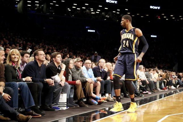 Indiana Pacers' Paul George scored a season-high 39 points, including 27 during the second half, and Indiana pulled away from the Charlotte Hornets for a 98-77 victory. File Photo by John Angelillo/UPI