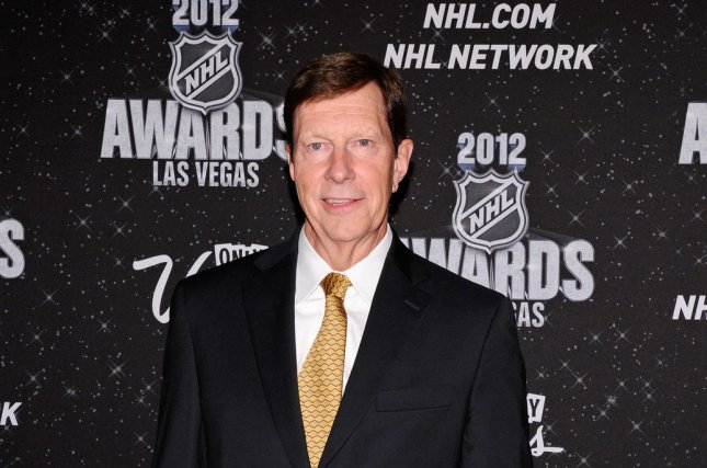 Nashville Predators general manager David Poile is one of the three finalists for GM of the year. File photo UPI/David Becker