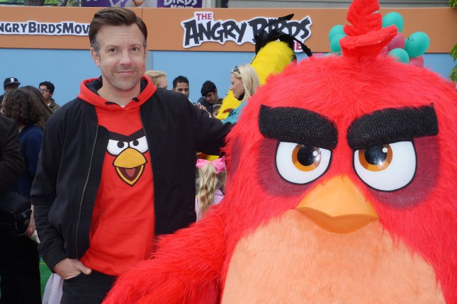 Cast member Jason Sudeikis, the voice of Red in the animated comedy The Angry Birds Movie, attends the premiere of the film in Los Angeles on May 7, 2016. A sequel is set for release in 2019. File Photo by Jim Ruymen/UPI