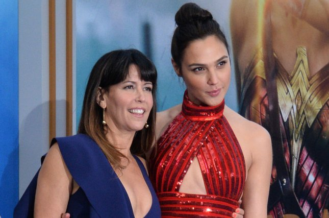 (Left to right) Patty Jenkins and Gal Gadot attend the premiere of Wonder Woman on May 25. Jenkins says a sequel to the film would be a beautiful story to tell. File Photo by Jim Ruymen/UPI