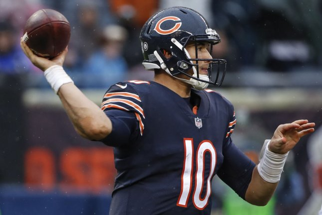 Chicago Bears quarterback Mitchell Trubisky (10) looks to pass the ball against the Green Bay Packers during the second half Sunday at Soldier Field in Chicago. Photo by Kamil Krzaczynski/UPI