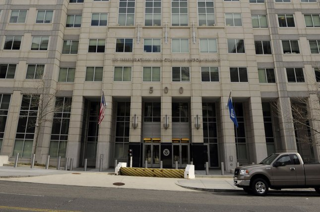 The U.S. Customs and Immigration Enforcement building in Washington, D.C. Earlier this month, ICE landed a contract that will give agents access to billions of U.S. license plate records and the ability to use real-time location tracking. File Photo by Roger L. Wollenberg/UPI