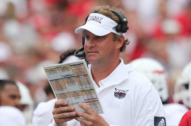 Former Florida Atlantic head coach Lane Kiffin accepted the head coaching job at Ole Miss on Saturday. File Photo by Aaron Josefczyk/UPI