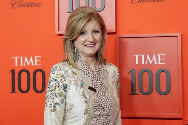 Arianna Huffington arrives on the red carpet at the 2019 Time 100 Gala at Frederick P. Rose Hall, Jazz at Lincoln Center on April 23 in New York City. The political commentator turns 70 on July 15. File Photo by John Angelillo/UPI