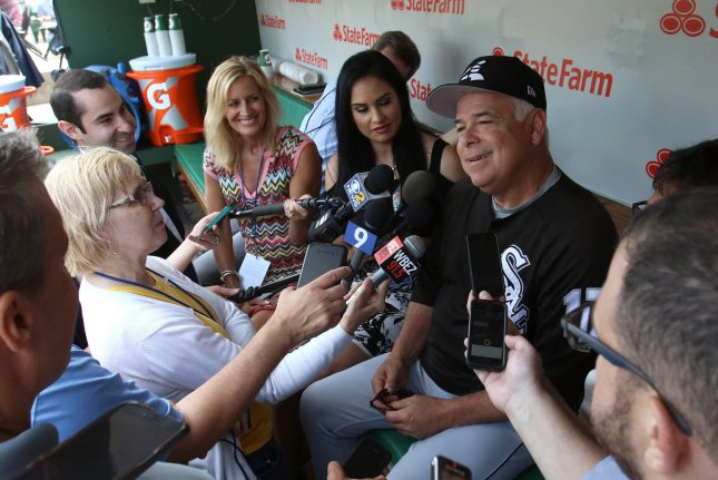 Chicago White Sox manager Rick Renteria (R) finished with a 236-309 record in his four seasons with the club. File Photo by Aaron Josefczyk/UPI