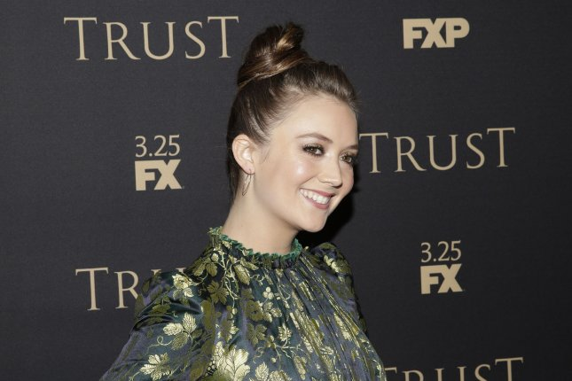 Billie Lourd paid tribute to her late mom, Carrie Fisher, during a weekend trip to Disneyland. File Photo by John Angelillo/UPI