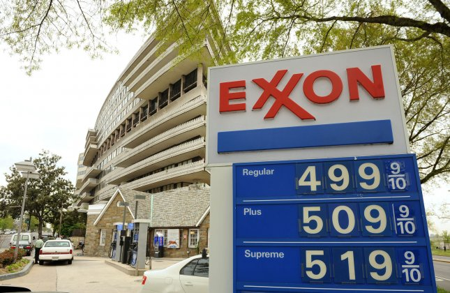 Gas prices reach five dollars per gallon at a gas station in Washington, DC on April 19, 2011. Unrest in the Middle East and price speculation have steadily led to higher oil prices and consequently higher gas prices throughout the year so far. UPI/Roger L. Wollenberg