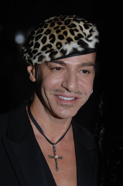 British designer John Galliano attends The V&A Golden Age Of Couture Gala at the Victoria And Albert Museum in London on September 18, 2007. (UPI Photo/Rune Hellestad)