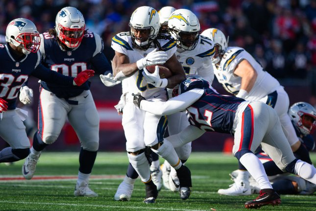 Los Angeles Chargers running back Melvin Gordon III (28) reported to the team Thursday after ending his 64-day holdout. File Photo by Matthew Healey/UPI