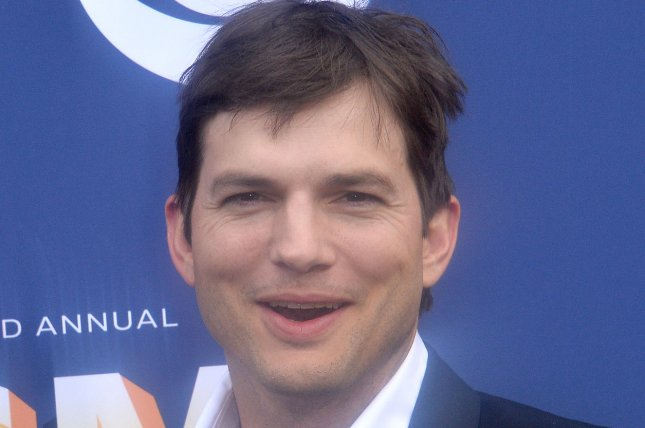 Ashton Kutcher said he makes a conscious effort to stay in touch with his former stepdaughters, Rumer, Scout and Tallulah Willis. File Photo by Jim Ruymen/UPI